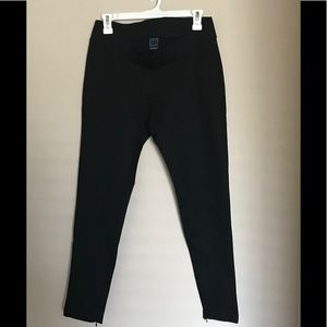 Gap Ladies Black Ankle Zip Legging Ponte Pants